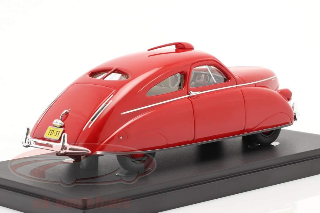 Thomas Rocket Car ano 1938 vermelho 1:43 AutoCult