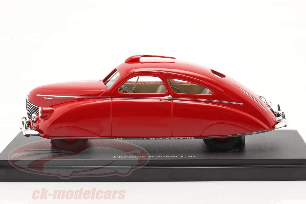 Thomas Rocket Car jaar 1938 rood 1:43 AutoCult