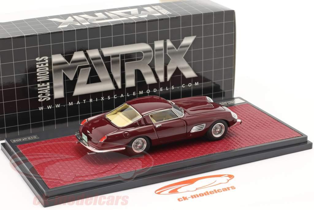 Ferrari 250 GT Speciale Pininfarina prince Bernhard 1965 maroon 1:43 Matrix