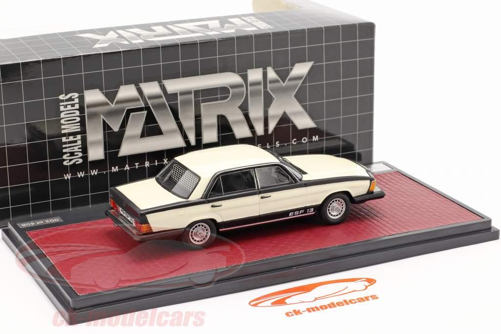 Mercedes-Benz ESF 13 Anno di costruzione 1972 bianca / nero 1:43 Matrix