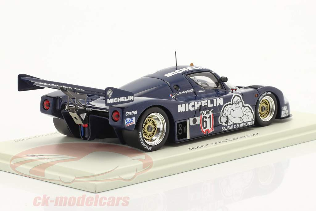 Sauber C9 #61 Sieger Supersprint Nürburgring Supercup 1987 Schlesser 1:43 Spark