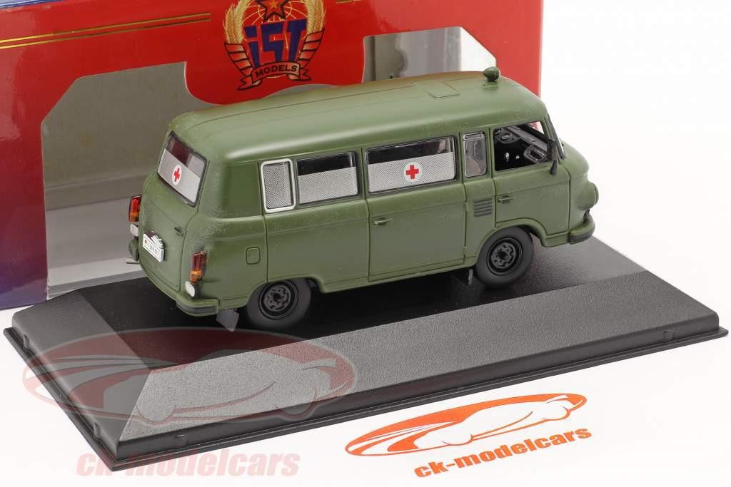 Barkas B1000 Militaire ambulance an 1964 foncé olive IST-Models