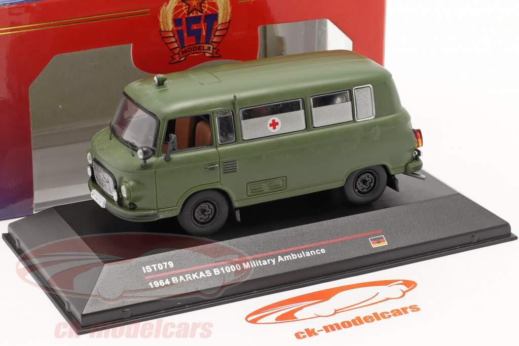 Barkas B1000 Militær ambulance år 1964 mørk oliven IST-Models / 2. plads valg