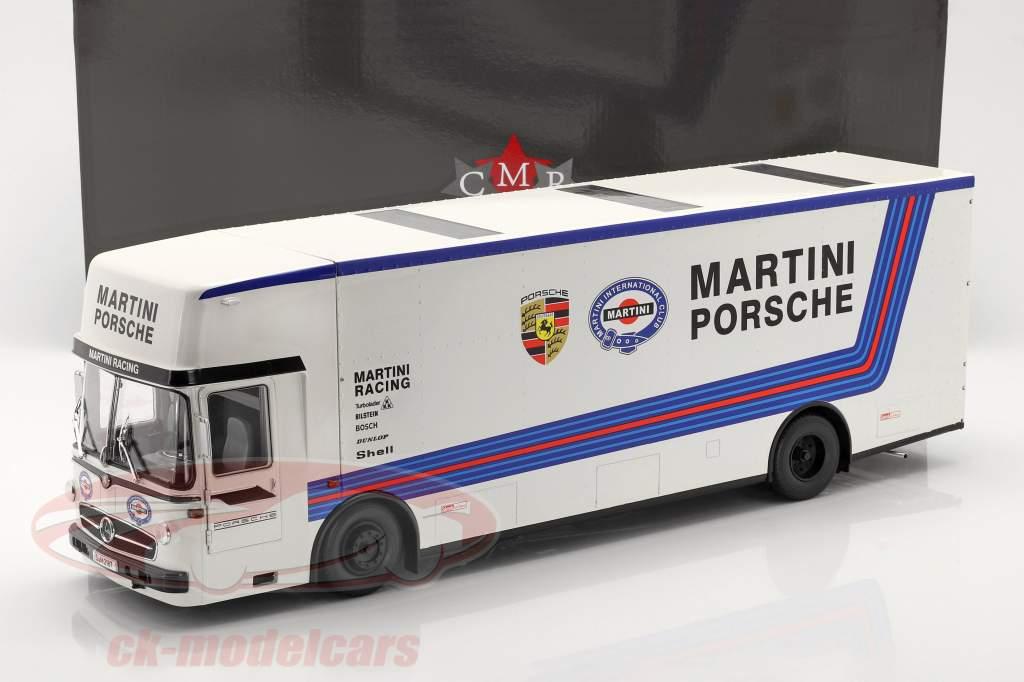 Mercedes-Benz O 317 Renntransporter Porsche Martini Racing weiß 1:18 CMR