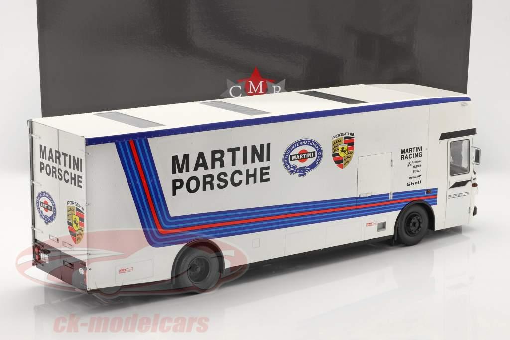 Mercedes-Benz O 317 人種 車 トランスポーター Porsche Martini Racing 白い 1:18 CMR