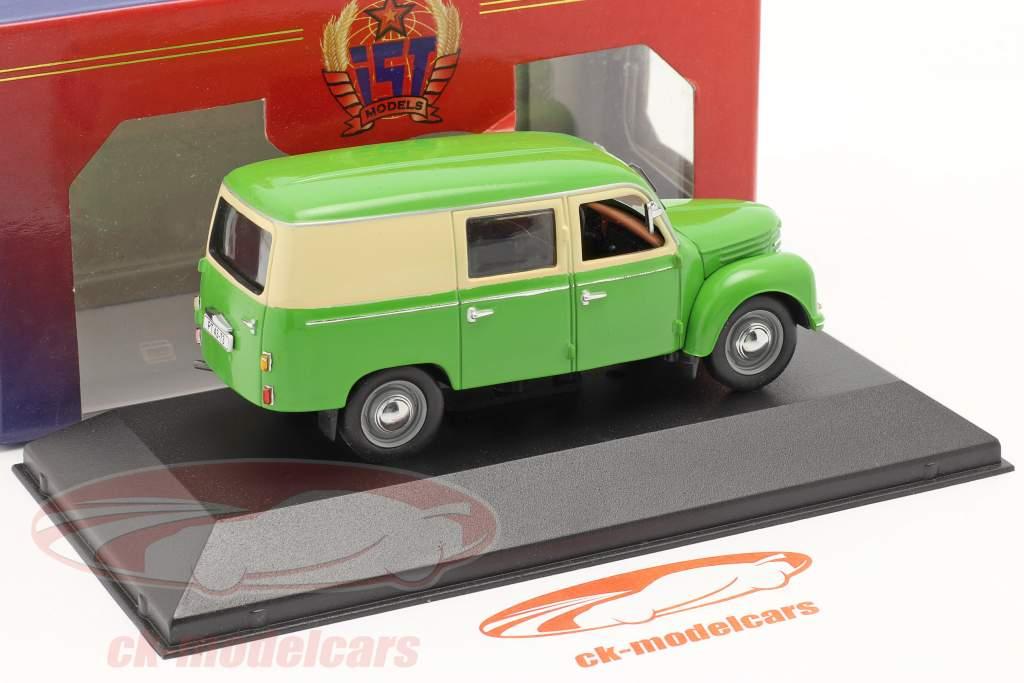 Ifa Framo V901/2 Kastenwagen Baujahr 1954 grün / beige 1:43 IST-Models