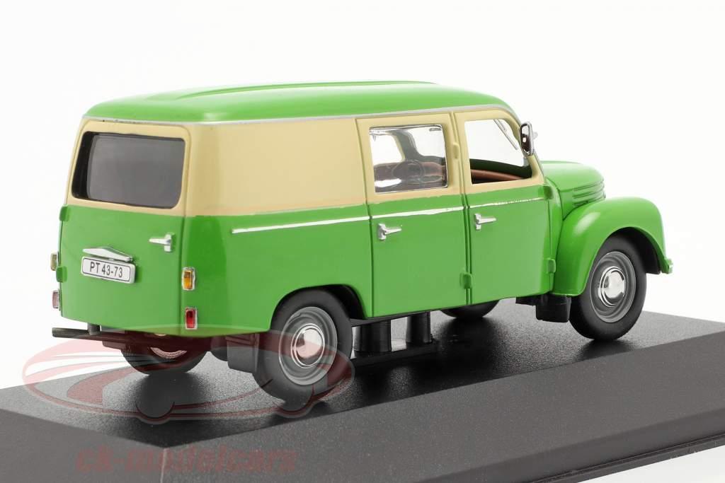 Ifa Framo V901/2 Boks varevogn år 1954 grøn / beige 1:43 IST-Models