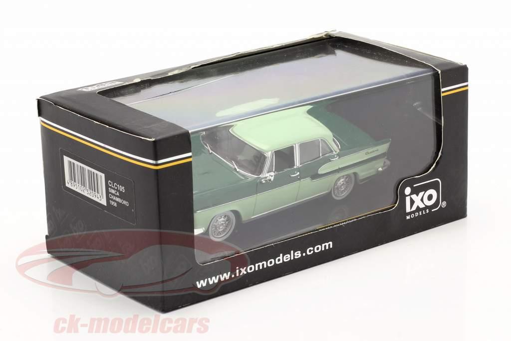 Simca Chambord año 1958 oscuro verde / ligero verde 1:43 Ixo / 2do elección
