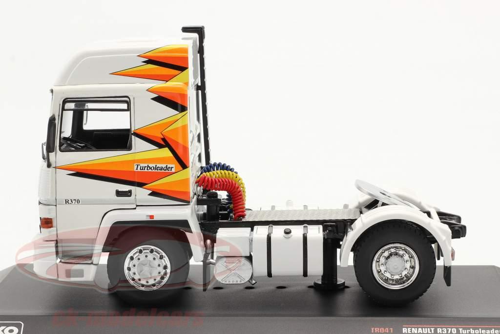 Renault R370 Turboleader Traktor enhed år 1987 hvid 1:43 Ixo