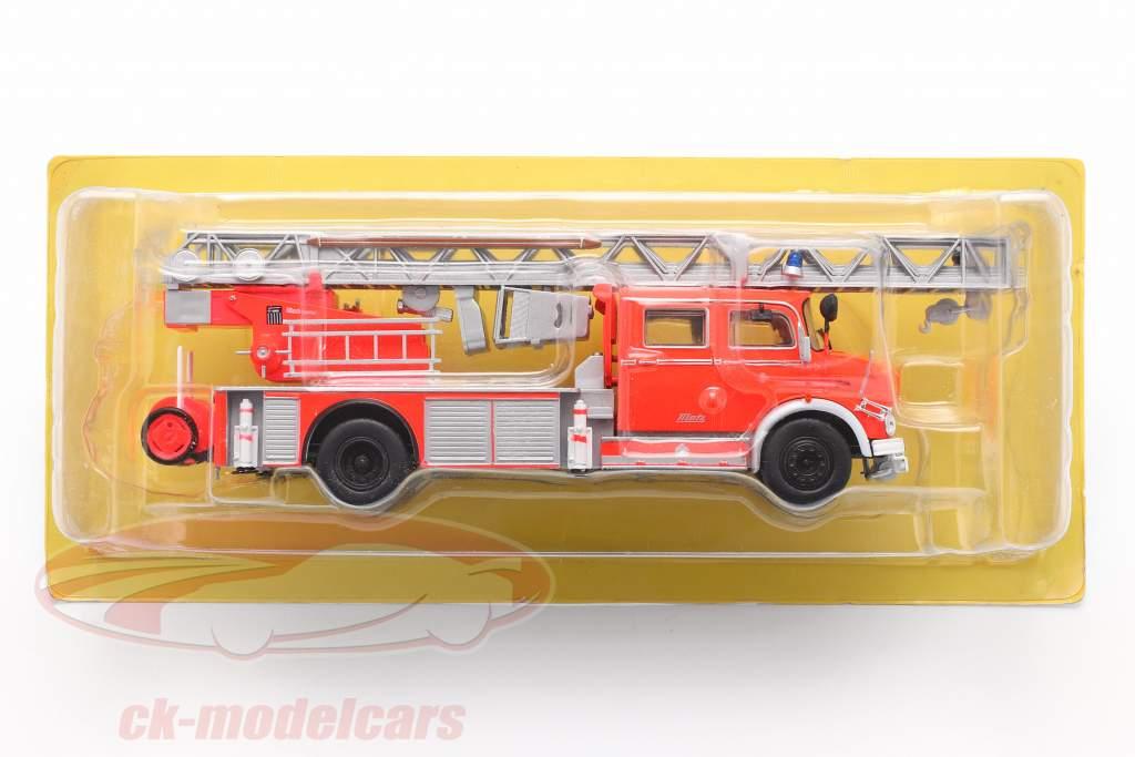 Mercedes-Benz L1519 corpo de Bombeiros Com Escada telescópica vermelho / prata 1:43 Altaya