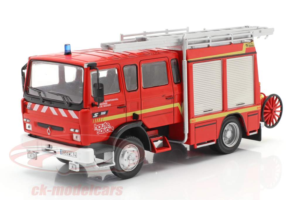 Renault VI S180 Metz Brandweer SDIS Haute Savoie rood 1:43 Altaya