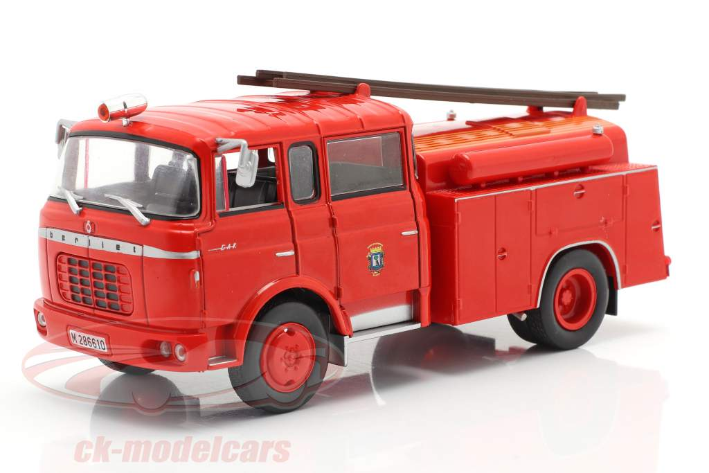 Berliet GAK 17 Brandweer Madrid rood 1:43 Altaya