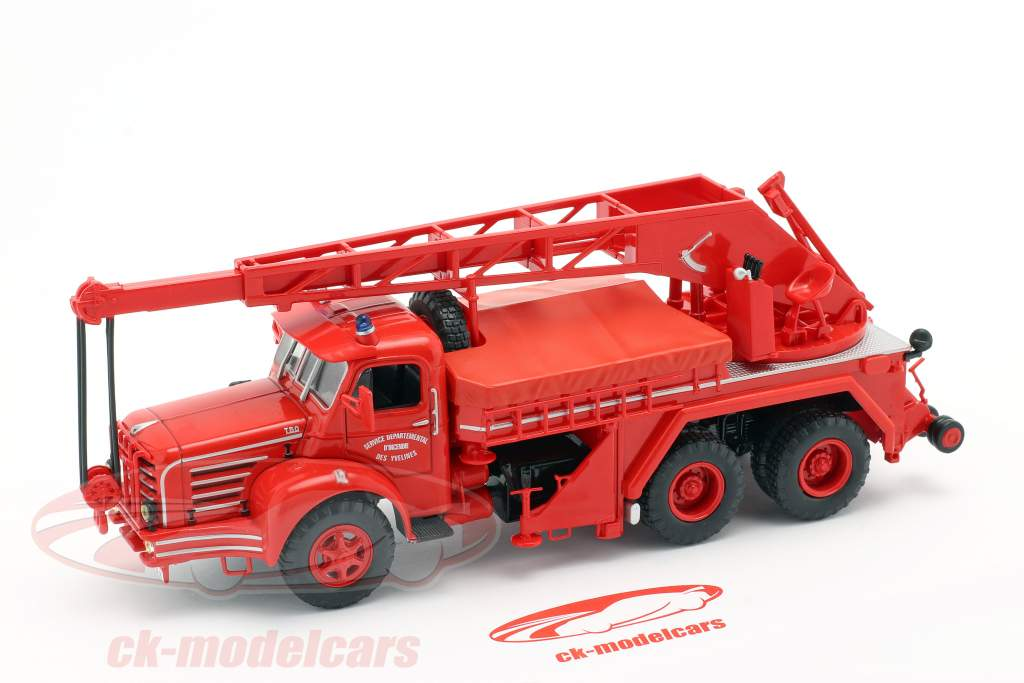 Magirus Berliet TBO 15 Ton pompiers Véhicule grue SDI des Yvelines 1:43 Altaya