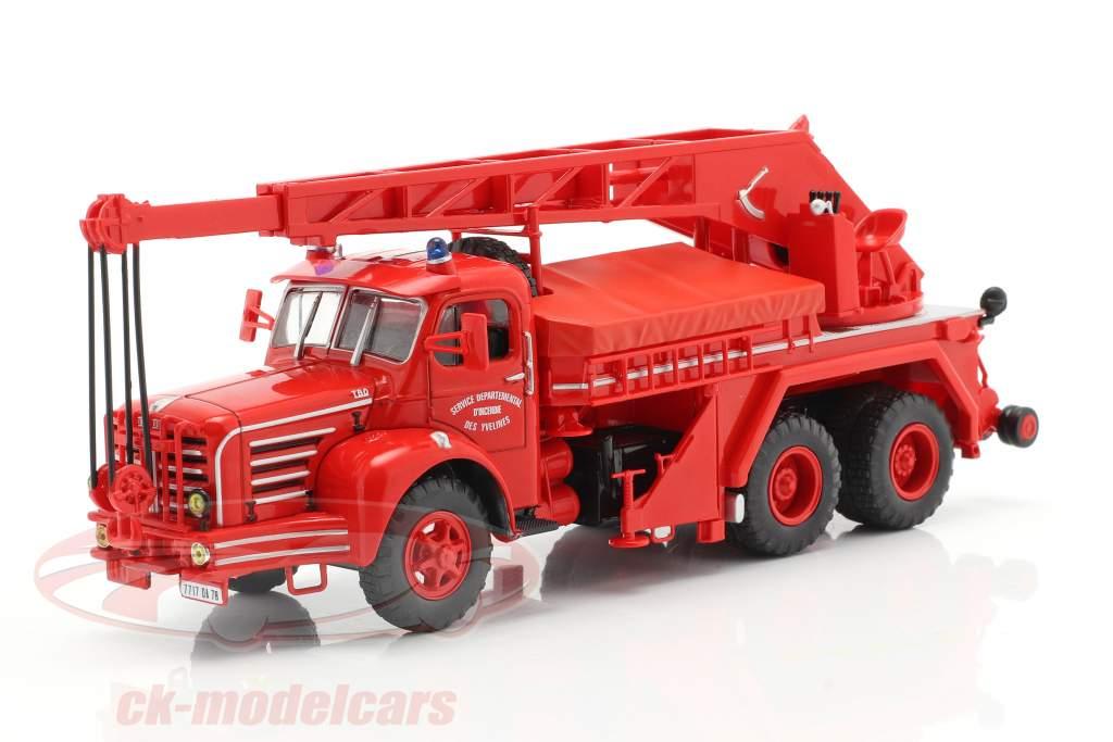 Magirus Berliet TBO 15 Tonnen Feuerwehr Kranfahrzeug SDI des Yvelines 1:43 Altaya
