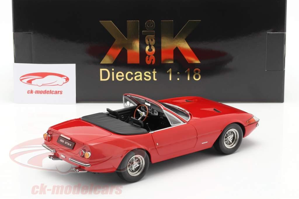 Ferrari 365 GTB/4 Daytona Convertibile Serie 1 1969 rosso 1:18 KK-Scale