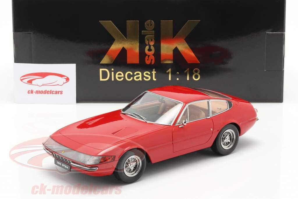 Ferrari 365 GTB/4 Daytona coupé Séries 1 1969 rouge 1:18 KK-Scale