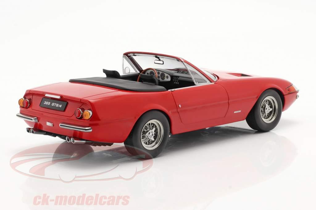 Ferrari 365 GTB/4 Daytona Converteerbaar Serie 1 1969 rood 1:18 KK-Scale