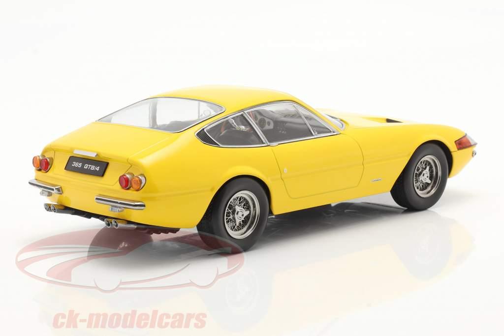 Ferrari 365 GTB/4 Daytona cupê Series 1 1969 amarelo 1:18 KK-Scale