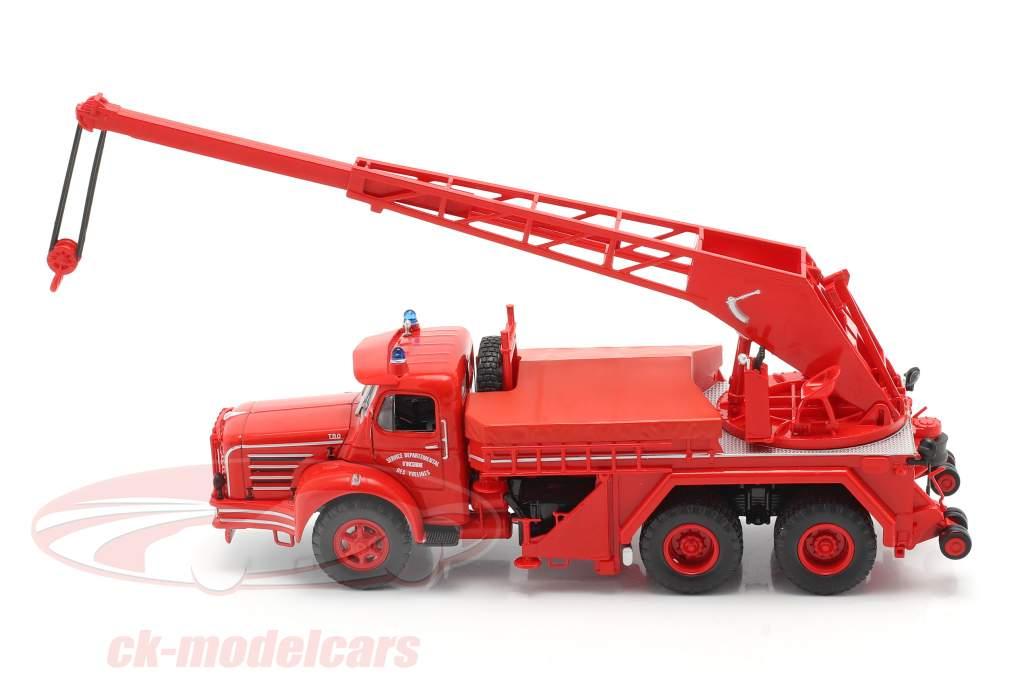 Magirus Berliet TBO 15 Toon Brandweer Kraanwagen SDI des Yvelines 1:43 Altaya