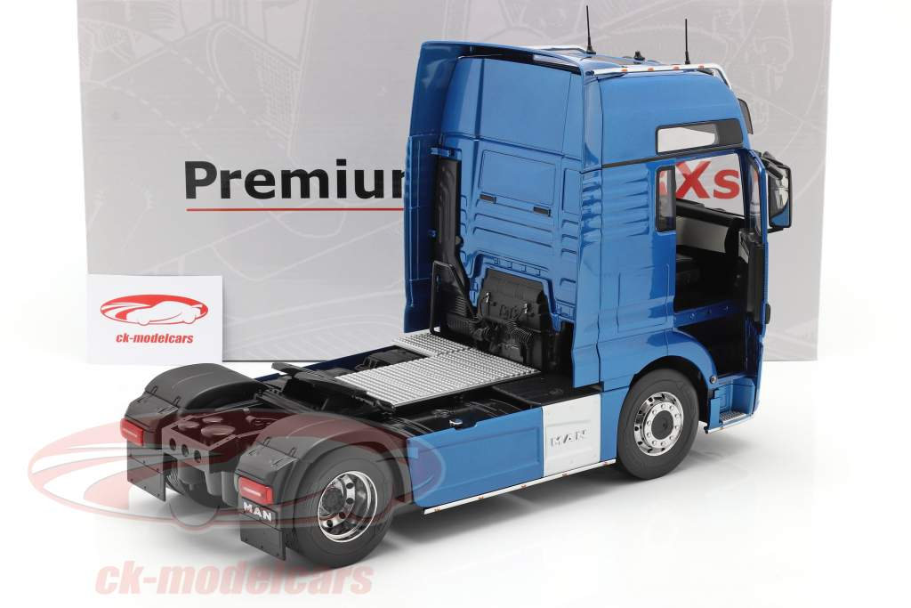 MAN TGX XXL Caminhão Ano de construção 2018 azul metálico 1:18 Premium ClassiXXs