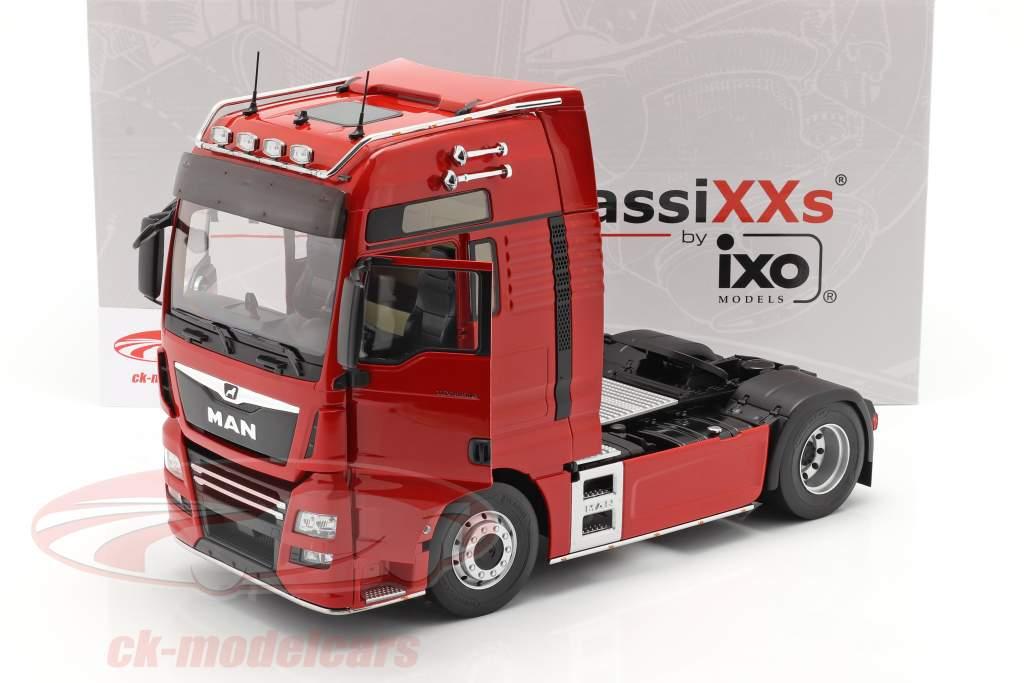 MAN TGX XXL Lastbil Byggeår 2018 rød 1:18 Premium ClassiXXs