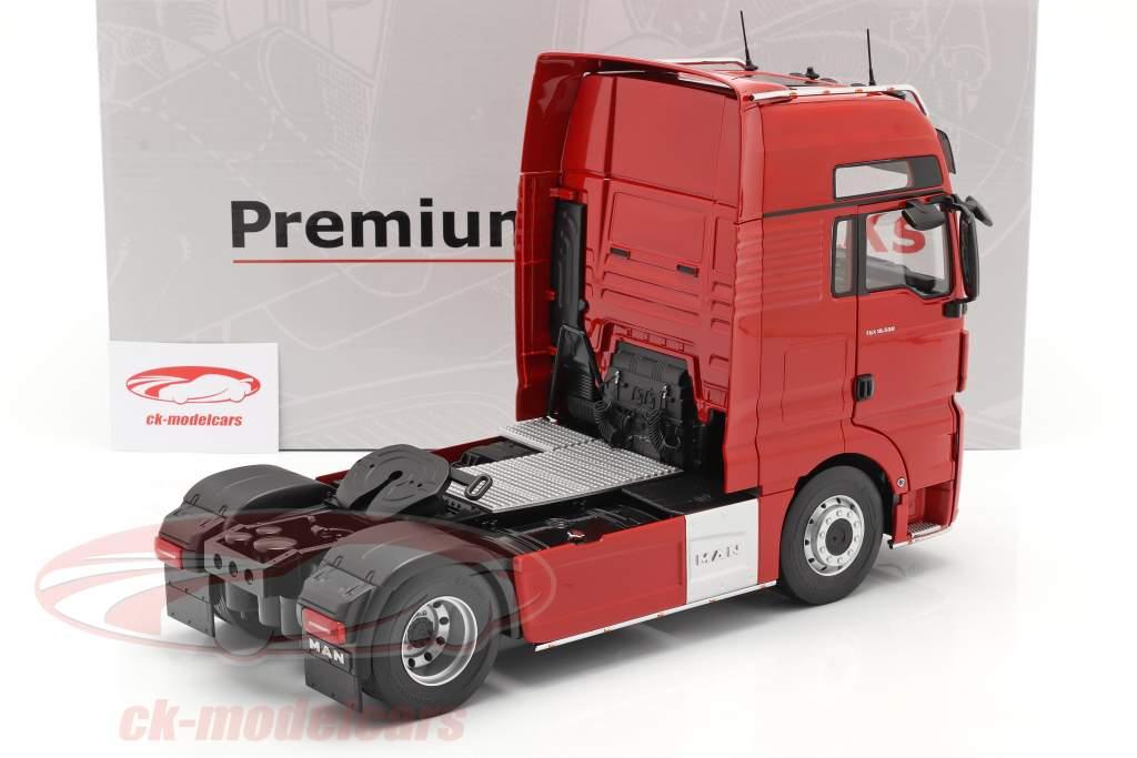 MAN TGX XXL Vrachtauto Bouwjaar 2018 rood 1:18 Premium ClassiXXs