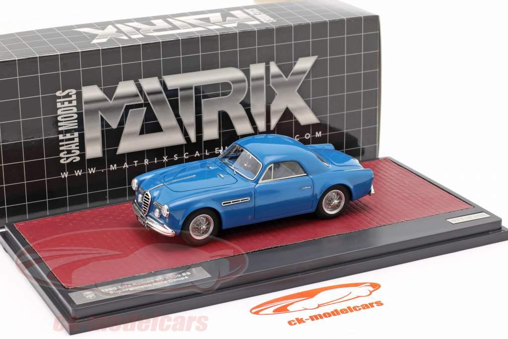 Alfa Romeo 6C 2500 SS Supergioiello Ghia Coupe 1950 blauw 1:43 Matrix