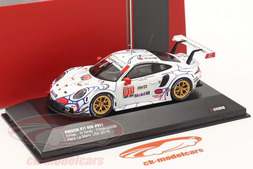 Porsche 911 (991) RSR #911 Klasse Vinder Petit LeMans 2018 Porsche GT Team 1:43 Ixo