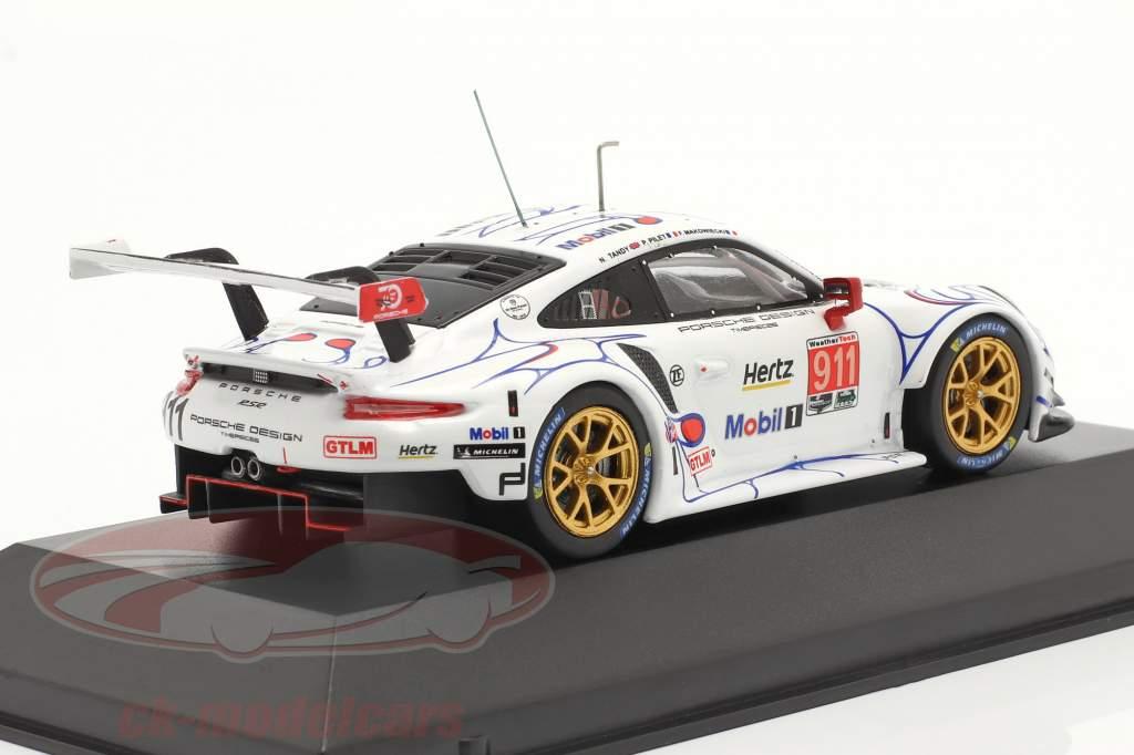 Porsche 911 (991) RSR #911 Classer Gagnant Petit LeMans 2018 Porsche GT Team 1:43 Ixo