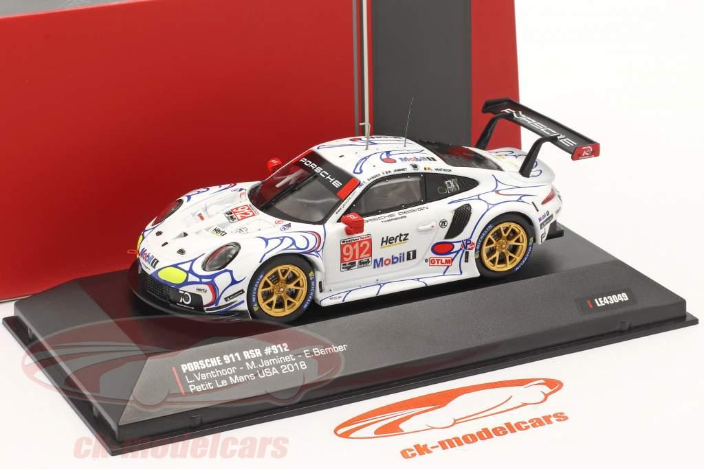 Porsche 911 (991) RSR #912 2e GTLM-klasse Petit LeMans 2018 Porsche GT Team 1:43 Ixo