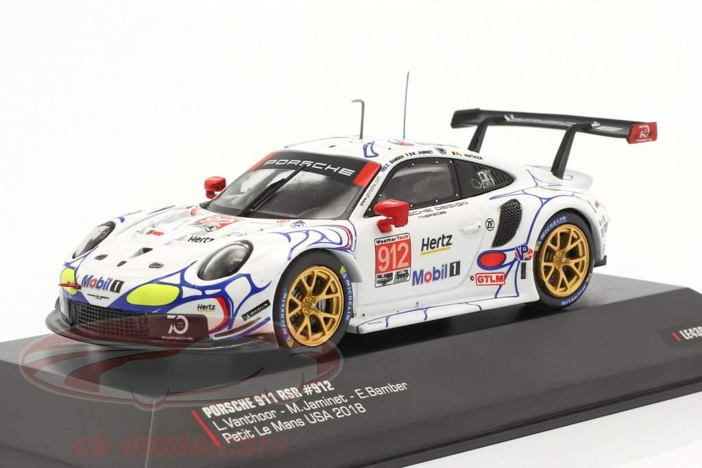 Porsche 911 (991) RSR #912 2e Classe GTLM Petit LeMans 2018 Porsche GT Team 1:43 Ixo