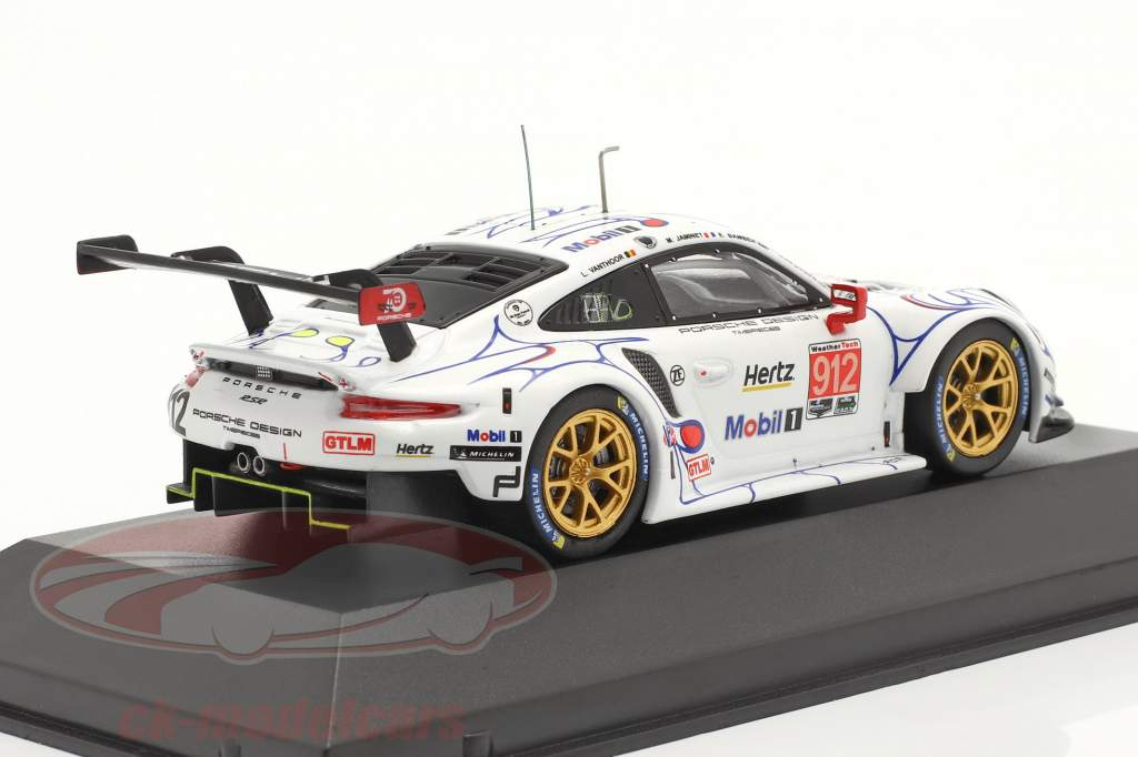 Porsche 911 (991) RSR #912 2nd GTLM-Klasse Petit LeMans 2018 Porsche GT Team 1:43 Ixo
