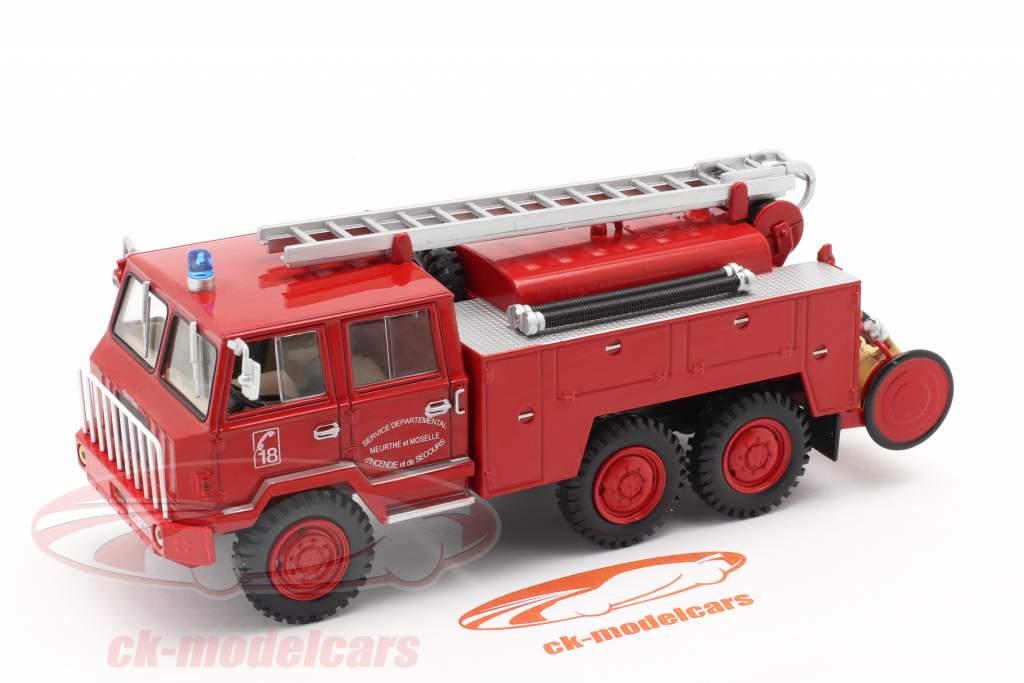 Berliet FF 6x6 Brandvæsen SDIS Meurthe et Moselle rød 1:43 Altaya