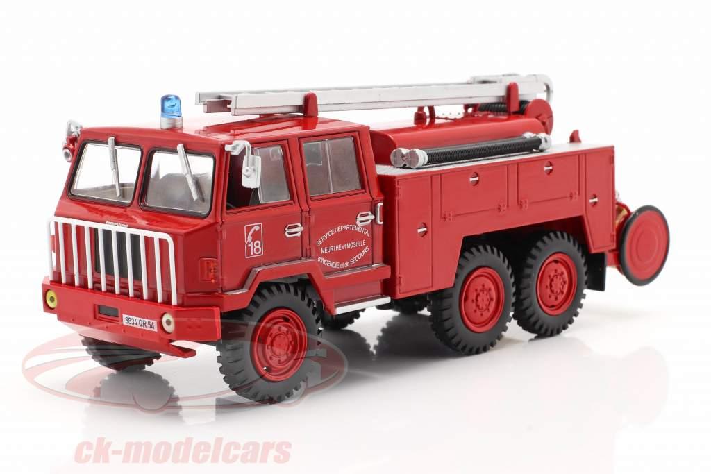Berliet FF 6x6 Brandweer SDIS Meurthe et Moselle rood 1:43 Altaya