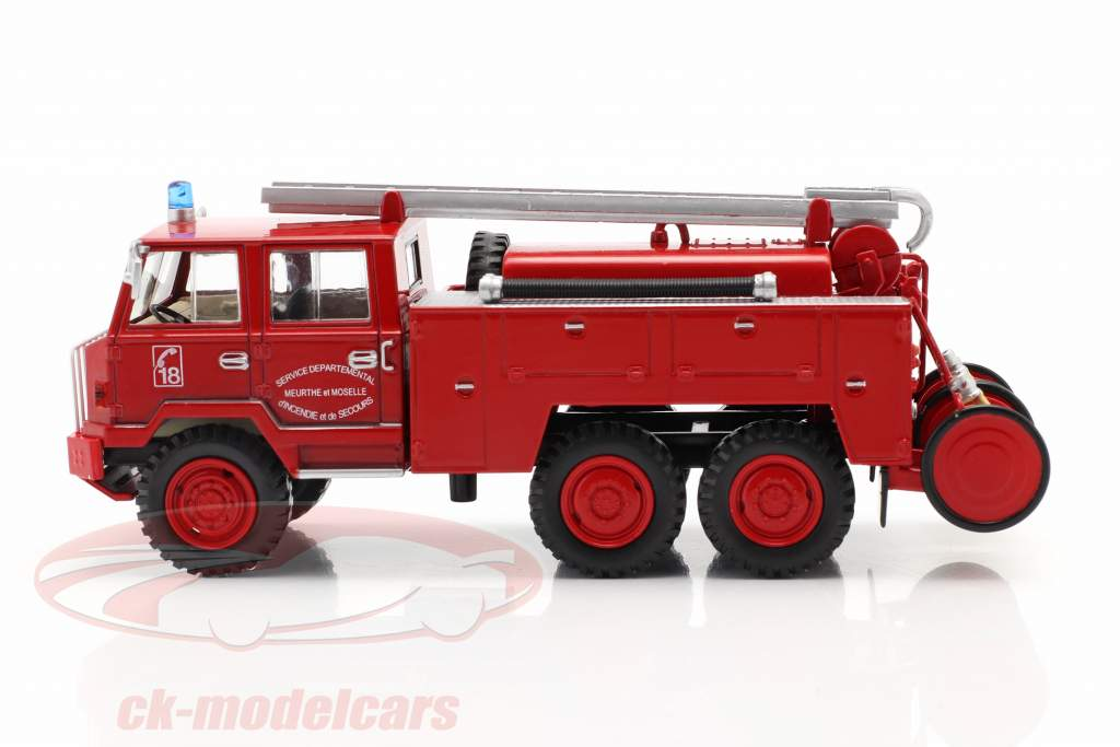 Berliet FF 6x6 cuerpo de Bomberos SDIS Meurthe et Moselle rojo 1:43 Altaya