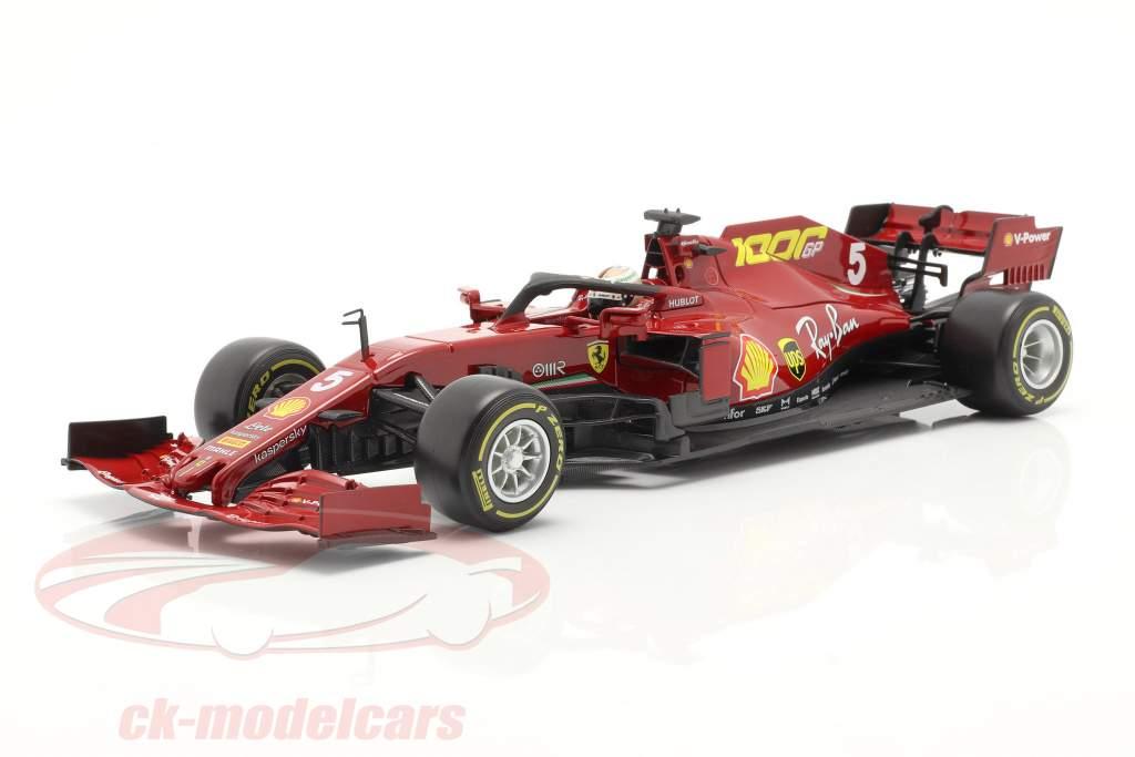 S. Vettel Ferrari SF1000 #5 1000th GP Ferrari Toskana GP F1 2020 1:18 Bburago