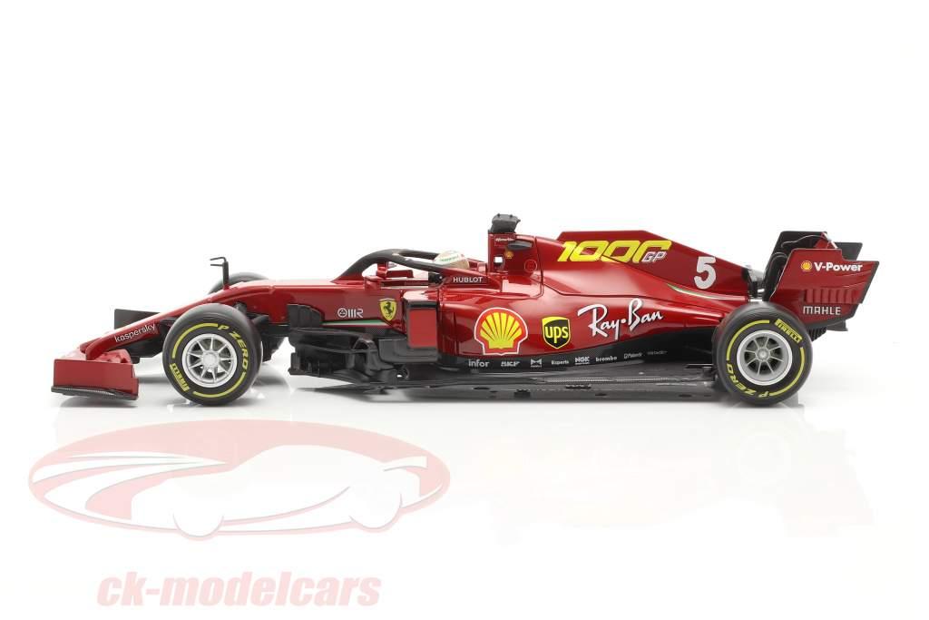 S. Vettel Ferrari SF1000 #5 1000e GP Ferrari Toscane GP F1 2020 1:18 Bburago