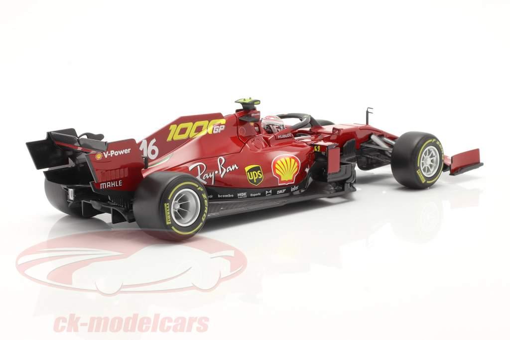 C. Leclerc Ferrari SF1000 #16 Milésimo GP Ferrari Toscana GP F1 2020 1:18 Bburago