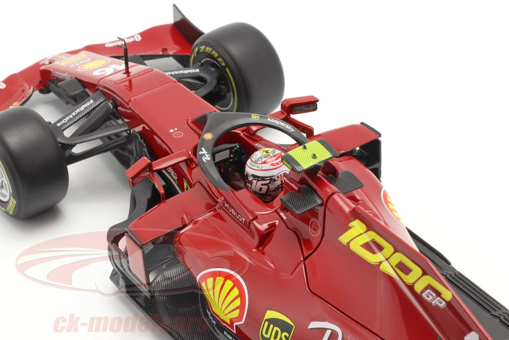 C. Leclerc Ferrari SF1000 #16 1000ste GP Ferrari Toscane GP F1 2020 1:18 Bburago