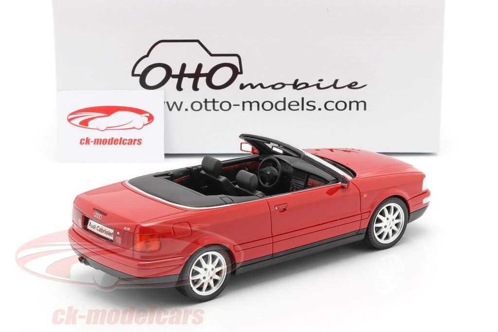 Audi 80 2.8L B3 Convertible Année de construction 2000 laser rouge 1:18 OttOmobile