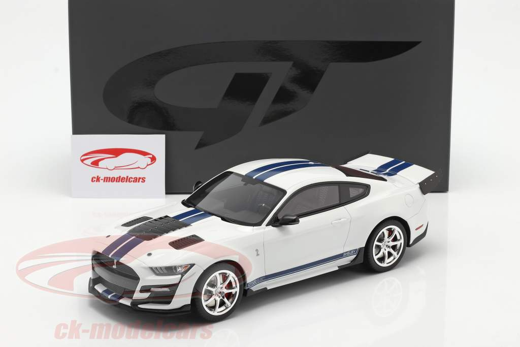 Ford Mustang Shelby GT500 Dragon Snake 2020 Oxford blanc 1:18 GT-Spirit