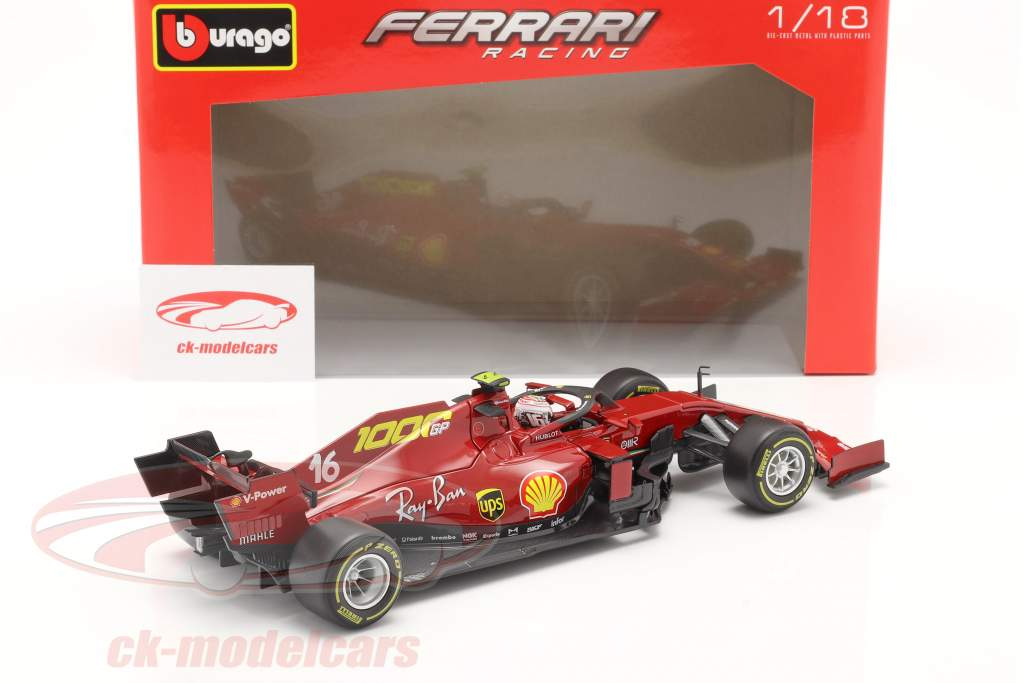 C. Leclerc Ferrari SF1000 #16 1000e GP Ferrari Toscane GP F1 2020 1:18 Bburago
