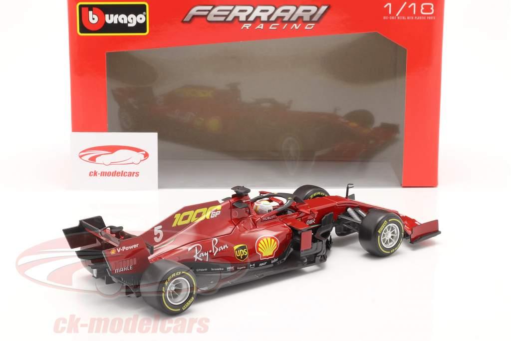 S. Vettel Ferrari SF1000 #5 1000ste GP Ferrari Toscane GP F1 2020 1:18 Bburago