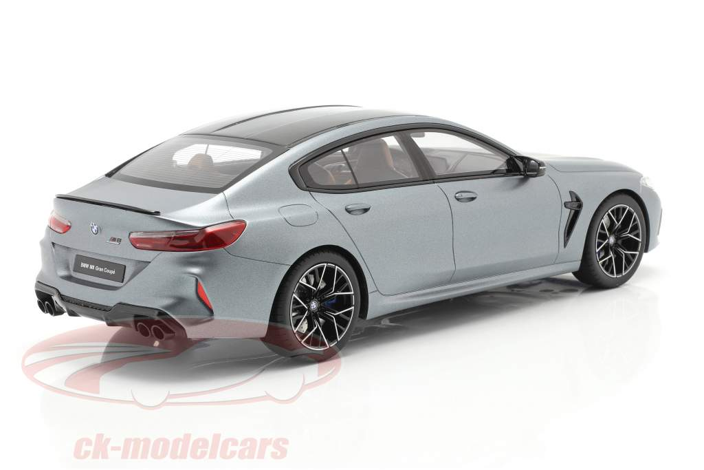 BMW M8 Gran Coupe Competition 2020 frozen bluestone metallic 1:18 GT-Spirit
