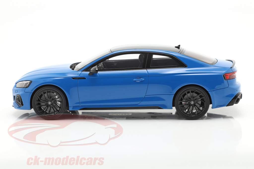 Audi RS 5 Coupe Baujahr 2020 turbo blau 1:18 GT-Spirit