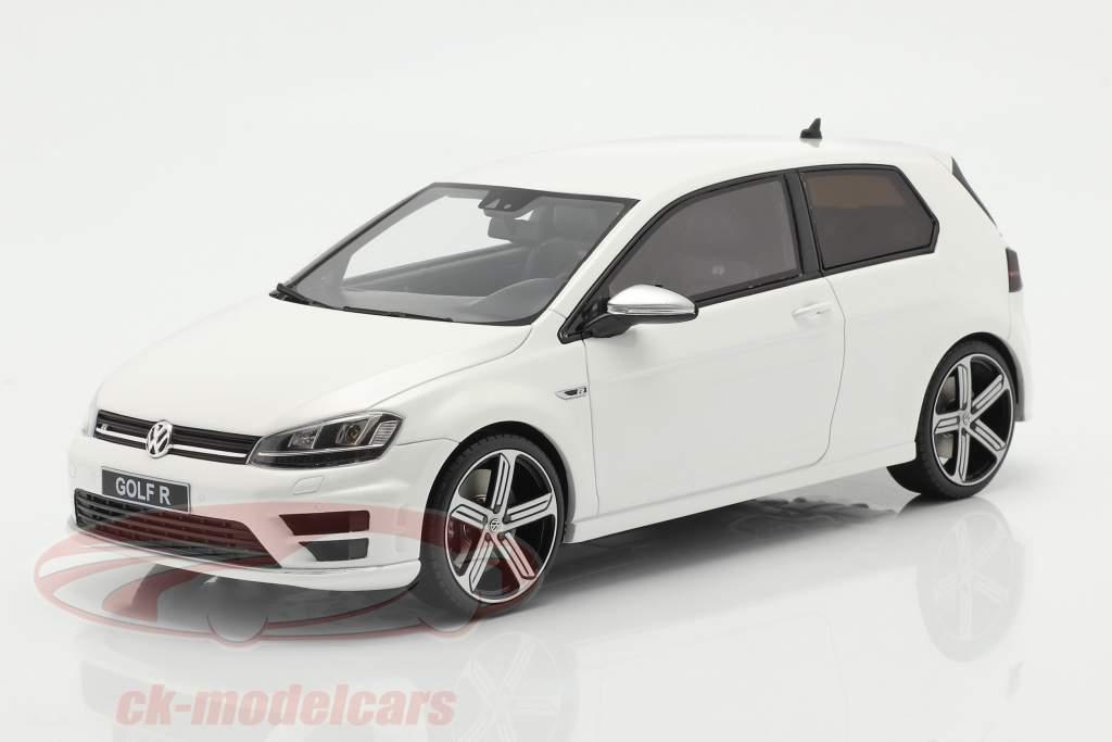 Volkswagen VW Golf VII R Byggeår 2014 hvid 1:18 OttOmobile