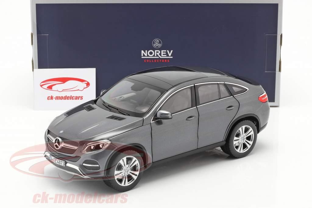 Mercedes-Benz GLE Coupe Année de construction 2015 gris métallique 1:18 Norev
