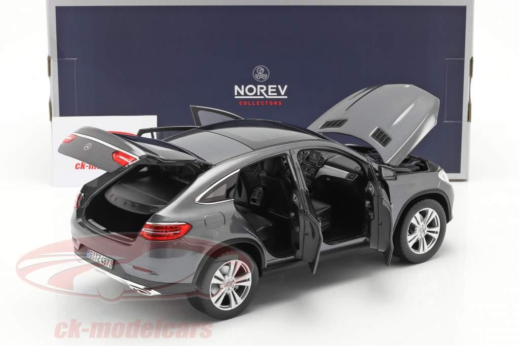 Mercedes-Benz GLE Coupe Baujahr 2015 grau metallic 1:18 Norev