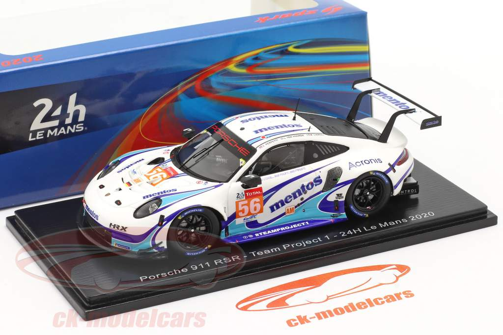 Porsche 911 RSR #56 24h LeMans 2020 Team Project 1 1:43 Spark