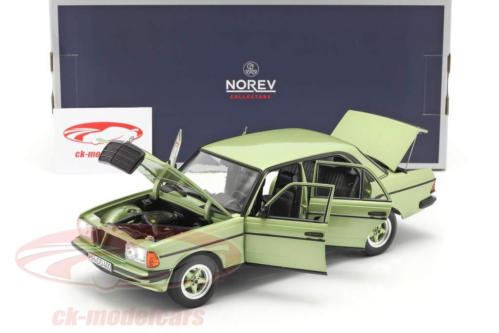 Mercedes-Benz E-class 200E (W123) AMG year 1984 silver green 1:18 Norev